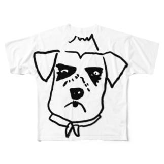 pecoじい_さだくろう フルグラフィックTシャツ