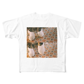 靴下ねこ Full graphic T-shirts