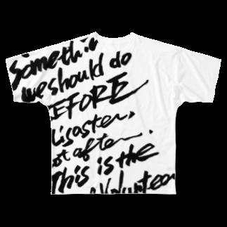 megumiillustrationのVolunteer フルグラフィックTシャツ