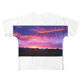 夕やけ Full graphic T-shirts