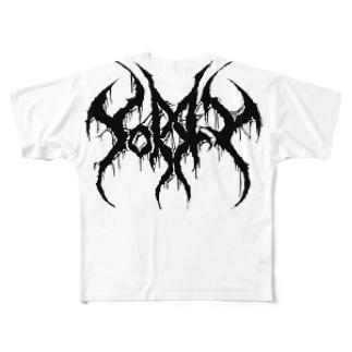 """ブルータル デスメタル ロゴ Tee """"SORRY"""" Full graphic T-shirts"""