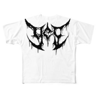"""ブルータル デスメタル ロゴ Tee """"YES"""" Full graphic T-shirts"""