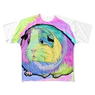おサイケモルちゃん Full graphic T-shirts