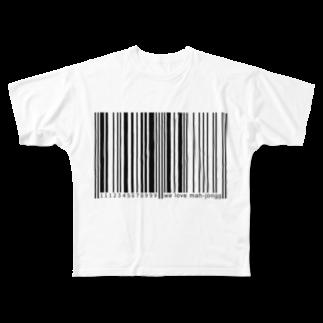 wlmのBARCODE - MONO Full graphic T-shirts