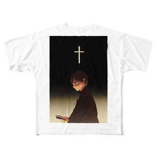信仰する人 Full graphic T-shirts