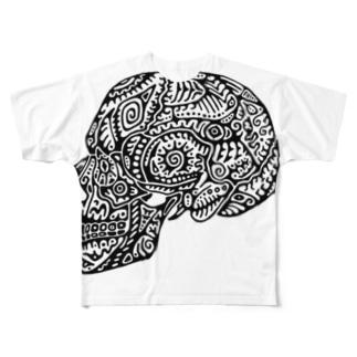 髑髏 Full graphic T-shirts
