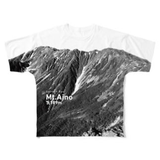 間ノ岳 Full graphic T-shirts