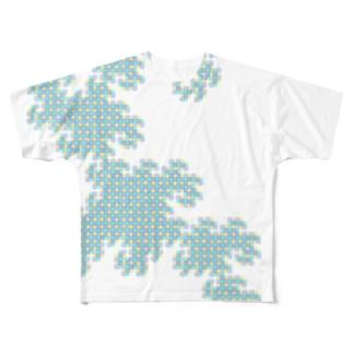 Dragon Curve フルグラフィックTシャツ