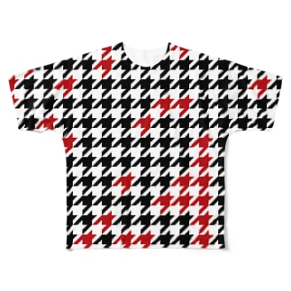 Hounds Tooth Check01 フルグラフィックTシャツ