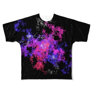 Pastel Galaxy(Pink and Purple) Full graphic T-shirts