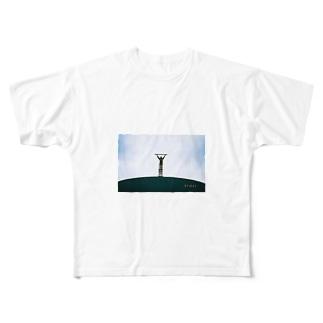 空を測る男 Full graphic T-shirts