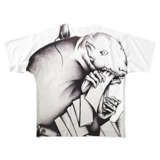 鉄鼠 Full graphic T-shirts