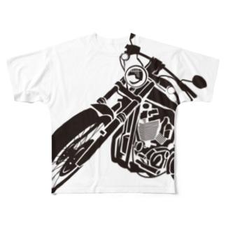 バイクシリーズ_クロ Full graphic T-shirts