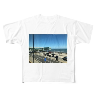 日立駅風景 Full graphic T-shirts