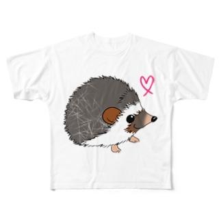 ハリネズミの風太4 Full graphic T-shirts