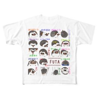 ハリネズミの風太5 Full graphic T-shirts