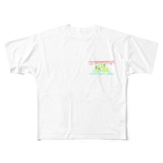 孤島のボーにんげん Full graphic T-shirts