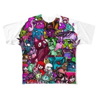 猛獣総進撃 フルグラフィックTシャツ