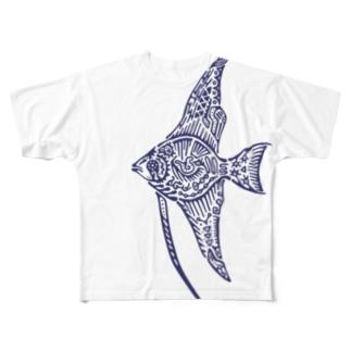 天使魚 Full graphic T-shirts