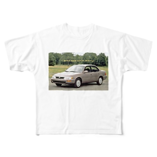 Vaporwave NERD CAR Full graphic T-shirts