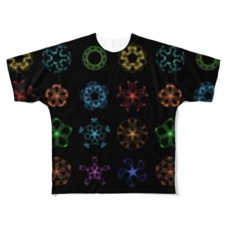 Rose Curve フルグラフィックTシャツ