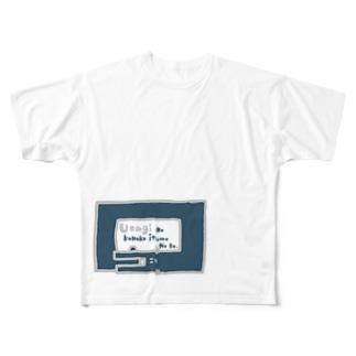 前面 ウロボロスうさぎ Full graphic T-shirts