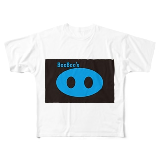 BooBoo's OO Blue Full graphic T-shirts