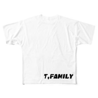 """ファミリー""""T"""" Full graphic T-shirts"""