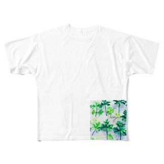 ゼラニウムリーフ Full graphic T-shirts