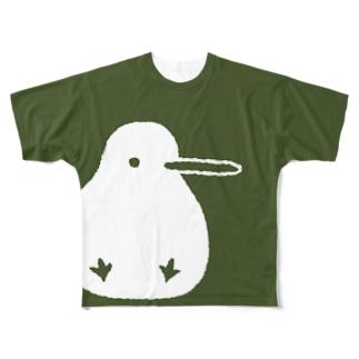 でっかいキキちゃん(フルグラフィック) Full graphic T-shirts