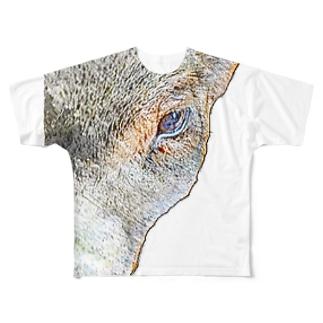 ミニブタさん Full graphic T-shirts