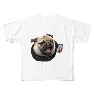 修道士 パグのパグ―グッズ Full graphic T-shirts