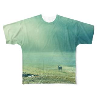 遠くの鹿 Full graphic T-shirts