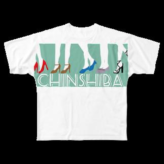 デリーのちんしば(ちんシバ) フルグラフィックTシャツ