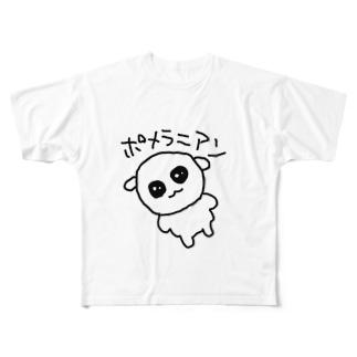ポメラニアンおじさん Full graphic T-shirts