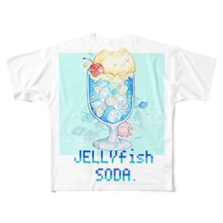 JELLYFISH☆SODA Full graphic T-shirts