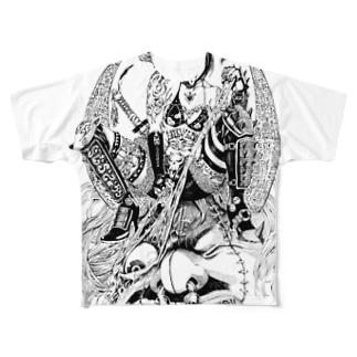 賞金稼ぎ Full graphic T-shirts