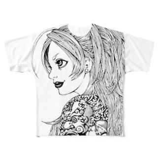 剛力 Full graphic T-shirts
