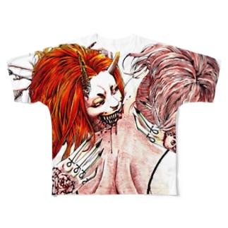 吸血 Full graphic T-shirts