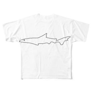 ネムリブカくん Full graphic T-shirts