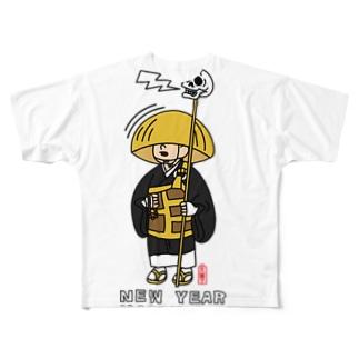 一休さん(文字あり) Full graphic T-shirts