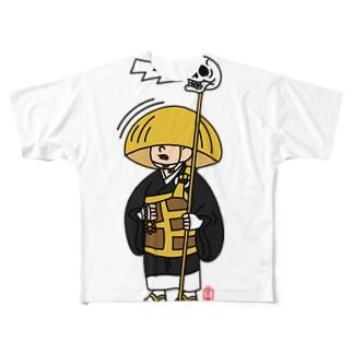 一休さん(文字なし) Full graphic T-shirts