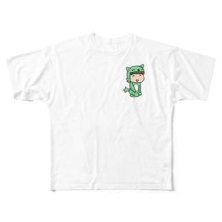 お座りむっちゃん新 フルグラフィックTシャツ