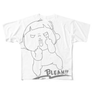 あーずベーだー フルグラフィックTシャツ