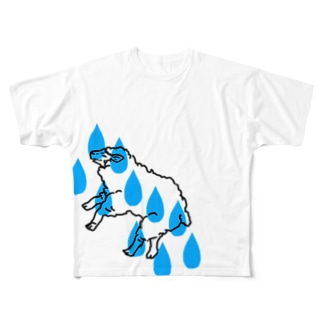 雨時々羊 Full graphic T-shirts