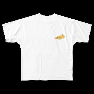 いぬころ@柴犬屋のバタードッグ  Full graphic T-shirts