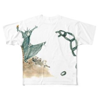自由!! Full graphic T-shirts