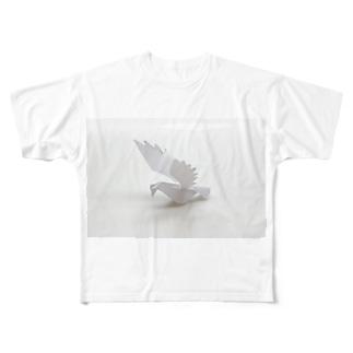 紙の鳥 フルグラフィックTシャツ