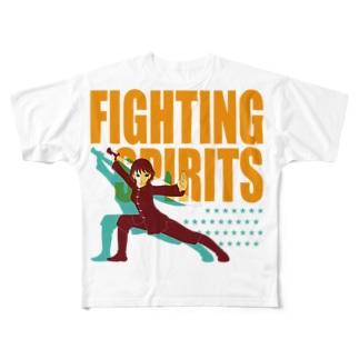 戦う少女~FIGHTING SPIRITS~ Full graphic T-shirts