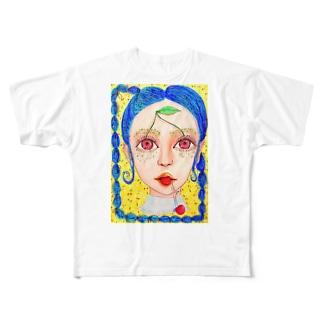 チェリーガール🍒 Full graphic T-shirts